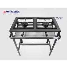 Fogão 02 bocas alta  pressão Linha econômica Metal Brey