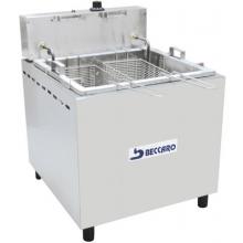 Fritadeira retangular  água e óleo de mesa FBA03 Beccaro